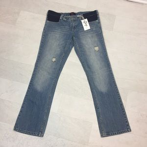 Maternity Jeans Sz 10 New Beginnings Distressed